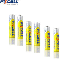 6 pièces * PKCELL 1.2V 1000mAh AAA batterie Rechargeable Ni MH Batteries