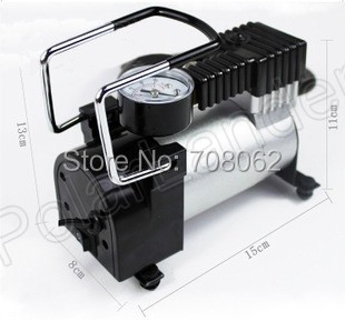 Car pump Portable Mini 12V Car Air Compressor Electric Tire Infaltor Pump Tire Inflator metal shell with the car tire pump before the tire tire front tire page 1 page 2