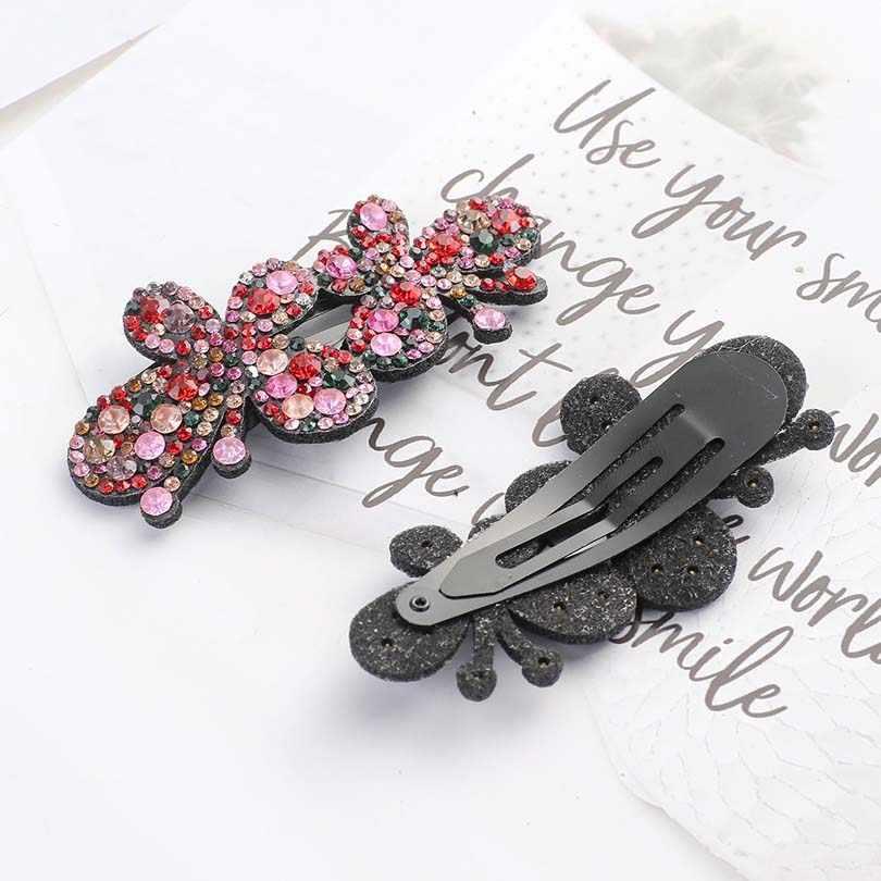 Новинка 2019, 1 шт., корейские Кристальные блестящие шпильки для женщин, боковая челка, головной убор, заколка для волос, аксессуары для волос для девушек, заколки