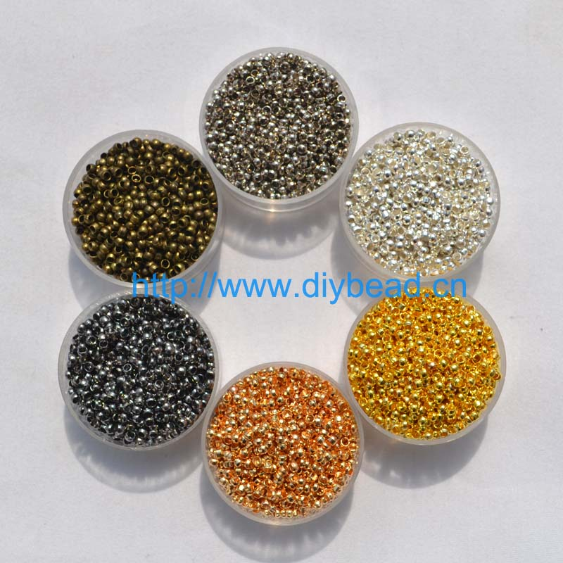 500pcs/lot jewelry findings and components 2MM Ball Plunger metal Accessory Smooth Ball Crimps Beads
