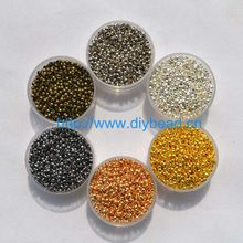 500pcs/lot jewelry findings and components 2MM Ball Plunger metal Accessory Smooth Ball Crimps Beads(China)