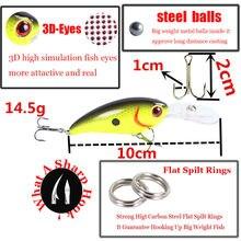 1pcs Crankbait Wobblers Hard Fishing Tackle 14g 10cm Swim bait Crank Bait Bass Fishing Lures 7 Colors fishing tackle HY-17