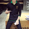 Hot Sale New 2016 Fashion Brand Men Polo shirt  Long Sleeve Slim Fit Shirt Men Cotton polo Shirts Casual Shirts 5XL