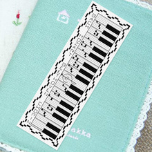 DIY Craft Stich Cross Stitch Bookmark Staff Music Plastic Fabric Needlework Embroidery Crafts Counted Cross-Stitching Kit