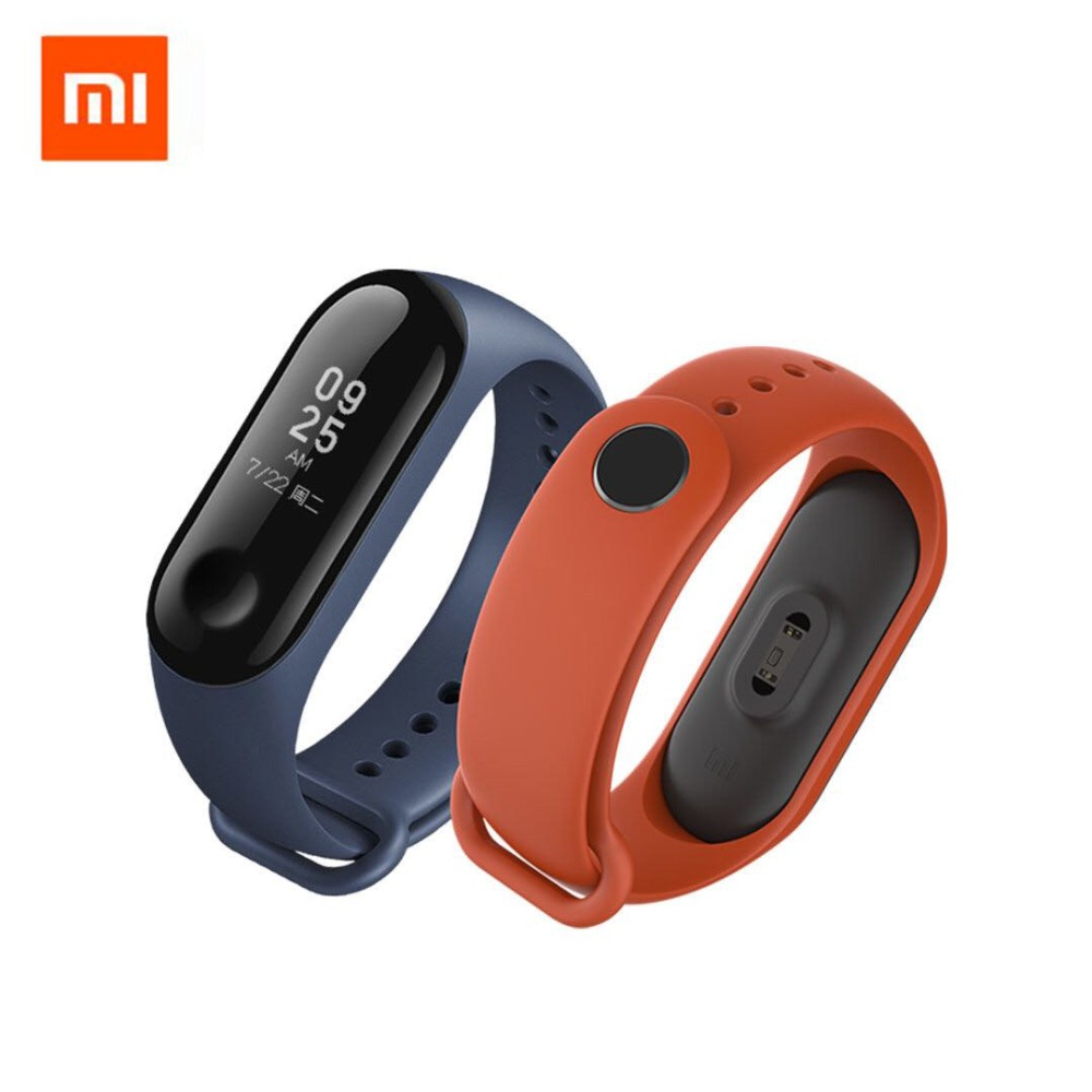 Original Xiaomi Colorful Silicone Wrist Strap Bracelet Replacement for Miband 3 Xiaomi Mi band 3 Wristbands 3 Black Blue Orange цена и фото