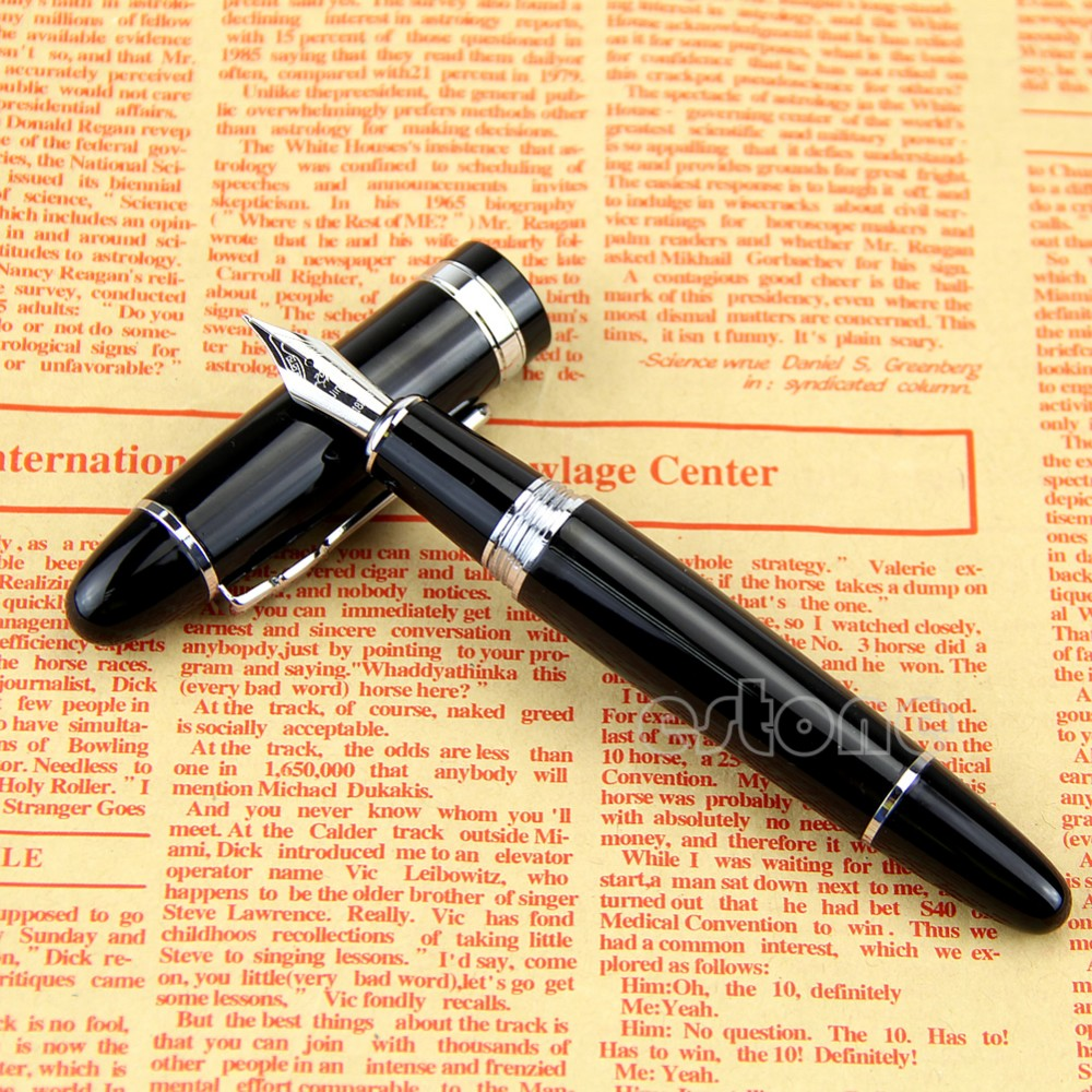 Hot Selling delicate Fountain Pen Jinhao 159 Black And Silver M Nib Fountain Pen Thick dropshipping цены
