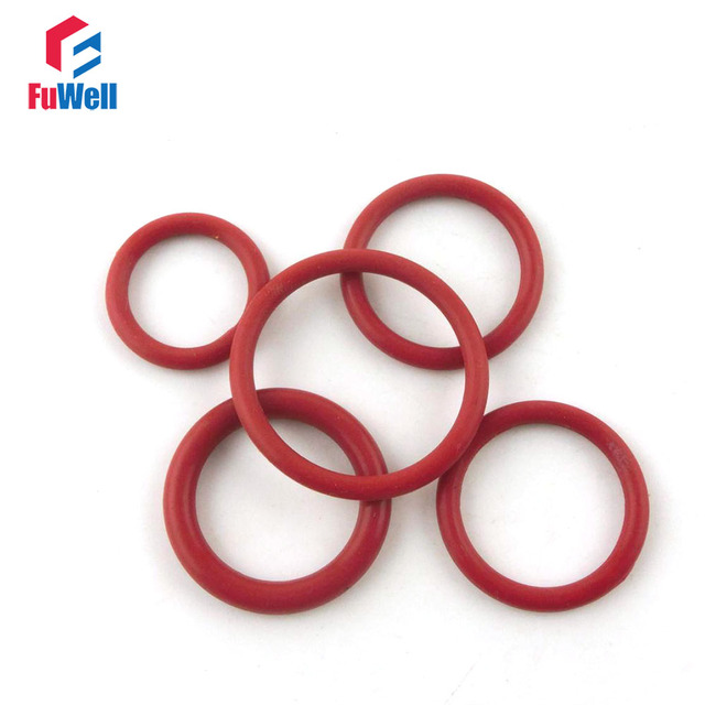 20pcs Red Silicon Rubber O rings Seals 3.5mm Thickness 57/58/60/62 ...