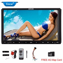 7 Inch GPS Car Radio Stereo DVD Video Player Double 2 Din Auto with Bluetooth FM AM MP3 USB SD Card Slot Built-in Microphone