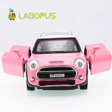 lagopus Mini Lengthened Zinc Alloy Model Car Toys Door Can Open Pull Back Sound&light Toy Collection Gift for Children