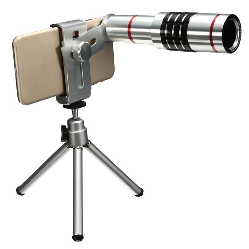 imágenes para Teléfono universal 18x de zoom óptico de la cámara teleobjetivo telescopio con lente cliip del trípode del montaje para el iphone para samsung teléfono inteligente