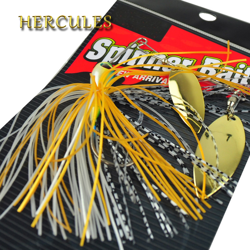 1pc Hercules Spinner Bait Minnow Spinnerbait Spoon Fishing Lure Accessories Pesca Carp Spiner Buzzbait Hook isca Artificial Bait 10pcs lot 0 8g spinner fishing lure bait spoon swisher buzzbait bass minnow crank popper vib spinnerbait lures tackle barb pesca