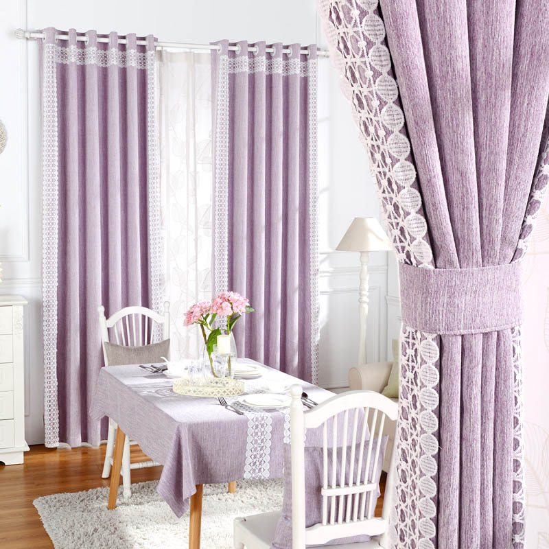 Blackout Ready Made Curtains Fabric For For Living Room Elegant Elegant Lace