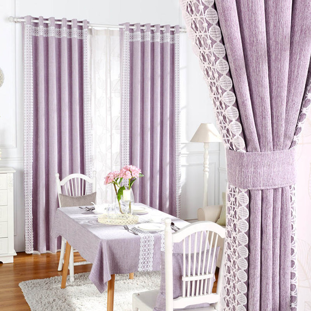 Blackout Ready Made Curtains Fabric For Living Room Elegant Lace ...