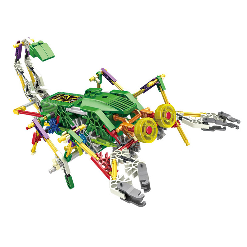 LOZ Creative DIY Scorpion King Electric Motor Robots Building Blocks Sets Bricks Kids Mobile Toys For Children Creator