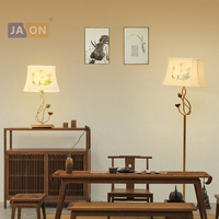 led e27 Chinese Iron Fabric Lotus LED Lamp LED Light LED Floor Lamp Floor Light For Dinning Room Bedroom