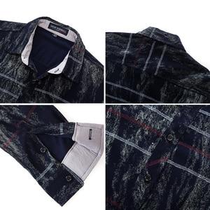 Image 4 - Fredd Marshall 2018 Autumn Fashion Retro Printed Shirt Men Striped Shirt Long Sleeve Casual Dress Shirt Male Brand Clothes 179