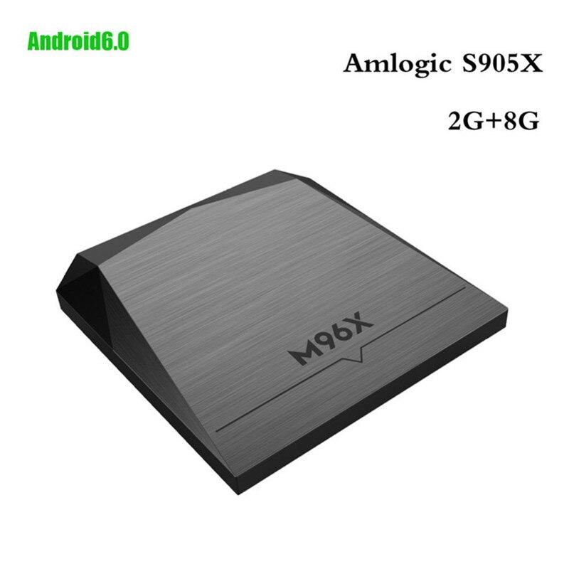 Newest 2GB RAM 8GB 64Bit Quad Core M96X Android 6.0 Amlogic S905X Smart TV Box 4K Ultra HD Streaming Media Player Set-top Box smart android 4 2 tv box quad core network media player 8gb ram 2gb ddr3 with wifi support google tv dlan miracast