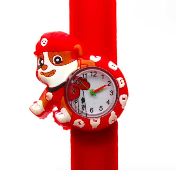 3D Children Watch Boy Girl Cartoon Clock Silicone Tape Patted Table Students Lovely Cool Child Gift Men Kids NC68