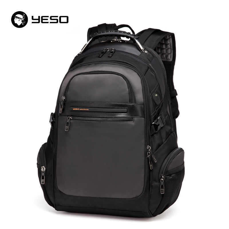 YESO New Men s Laptop Backpacks 2019 Business Casual Back Pack For Teenager Large  Capacity Black Computer 664ee7ba0d