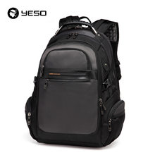 YESO New Men's Laptop Backpacks 2019 Business Casual Back Pack For Teenager Large Capacity Black Computer Backpack Male Mochilas(China)