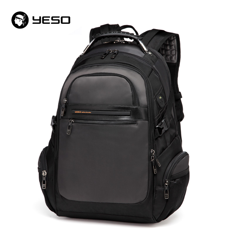 Yeso New Men's Laptop Backpacks Business Casual Back Pack For Teenager Large Capacity Black Computer Backpack Male Mochilas