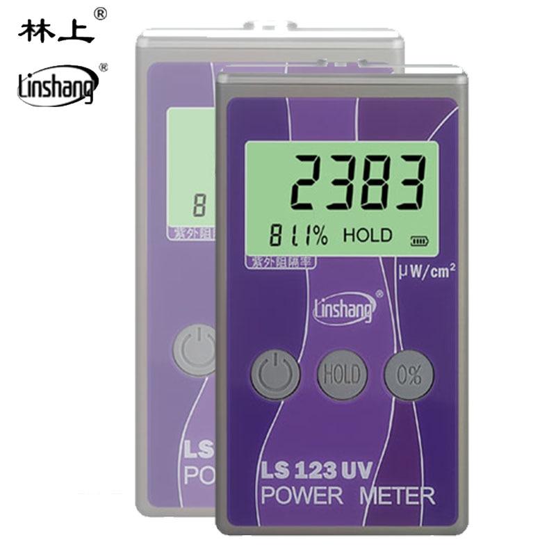 LS123 UV Power Meter, UV intensité mètre Portable Intensité Ultraviolet Testeur, Ultraviolet transmission Puissance Instrument outils