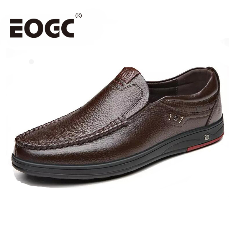 Genuine Leather Men Casual Shoes Leather Flats Shoes Moccasins Soft Breathable Men Loafers Oxfords Driving Shoes