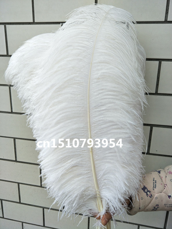 New wholesale 10pcs big beautiful natural white ostrich feather 26 28inch 65 70cm Decorative diy stage