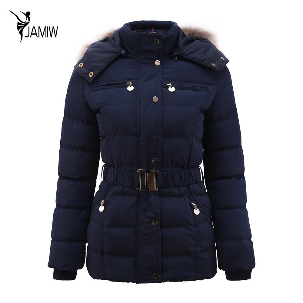 House design kurtki - New Arrival Winter Jacket Women Slim Grube Ciep E Stylowe Kurtki P Aszcze Pani Z Futra Z Kapturem