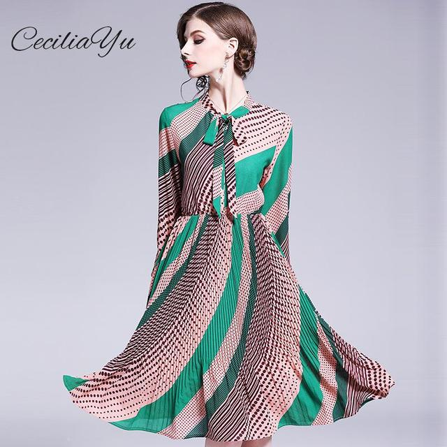 US $54.67 25% OFF|Dot/Knee length/Spring/Summer Dress 2019 New Plus Size  Maxi/Chiffon/Vintage/boho/Elengant Dresses Womens Casual Wear Ceciliayu-in  ...