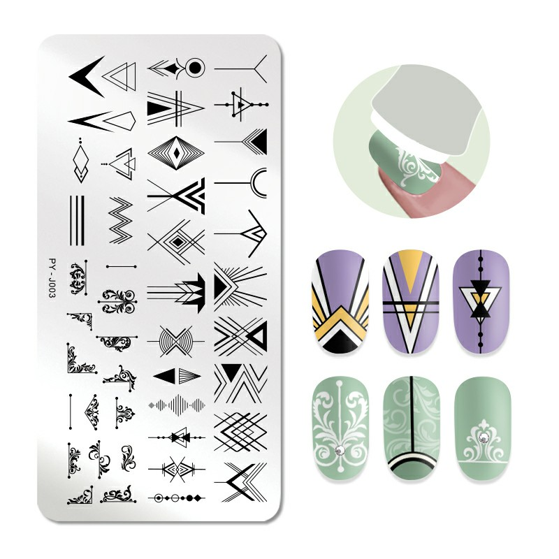 Image 5 - PICT YOU Rose Flower Series Stamping Plates Stainless Steel Nail Image Stamp Template Manicure Design Plate With Stamp-in Nail Art Templates from Beauty & Health