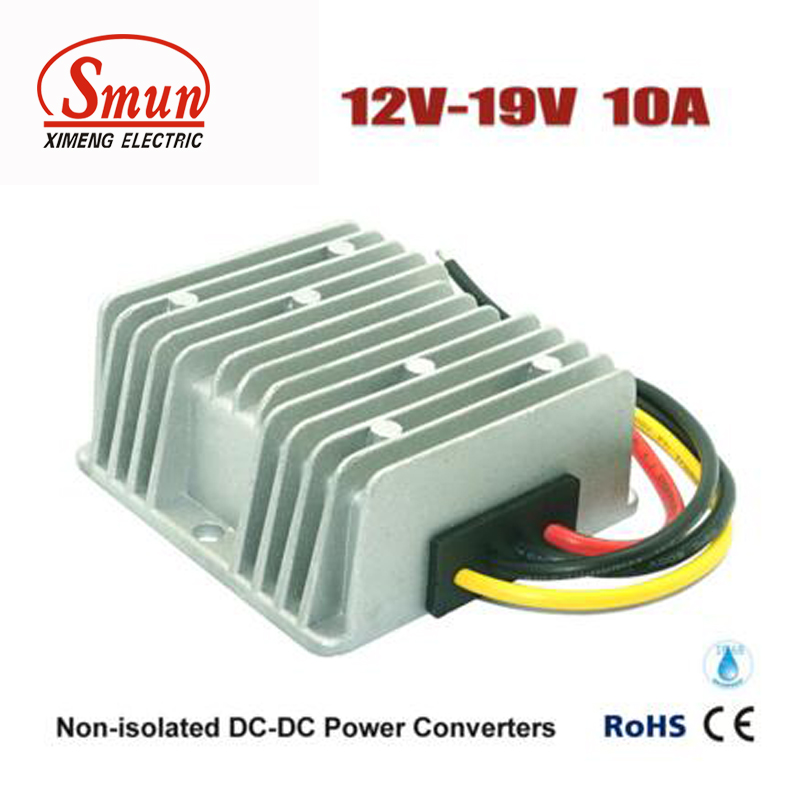DC DC Converter 12V to 19V 10A Laptop Power Supply With Waterproof IP68 waterproof regulator module step up dc 10v 12v 18v to dc 19v 15a 285w for solar power system voltage converter transformer