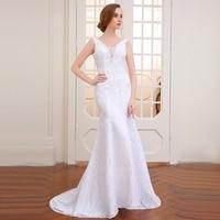 Very BeautifuPoemssongs Mermaid Wedding Dress Backless Vestidos De Noiva Robe De Mariage Ball Gowns Free
