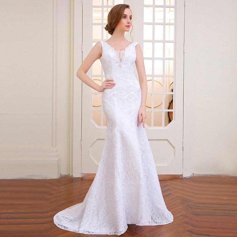 Very BeautifuPoemssongs  Mermaid  Wedding Dress Backless Vestidos De Noiva Robe De Mariage Ball Gowns Free Shipping