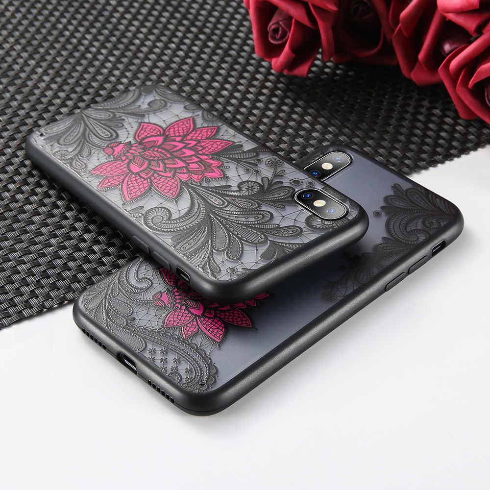 KISSCASE etui do Samsung J8 J6 J3 J7 J4 2017 3D tłoczone czarny czerwony róża miękki futerał do Samsung A8 plus A8 A6 Plus A6 Capinhas