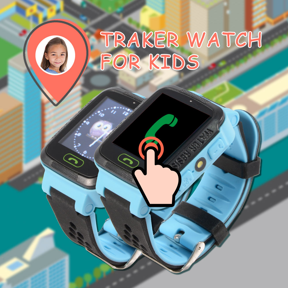 GPS Smart Watch as Children Gift With Flashlight Baby Kids Watch SOS Call Location Tracker 2G System Voice Chat Alarm Clock