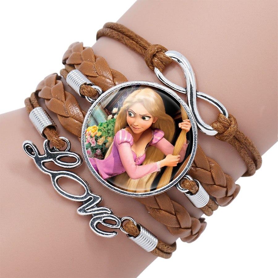 Детский Браслет Принцессы Диснея с героями мультфильма «Холодное сердце», Эльза, прекрасный подарок для девочек, аксессуары для одежды, детский браслет, украшения для макияжа - Цвет: 11