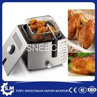 Thermostatic electric frying pan household smokeless frying machine multifunctional small frying pan electric deep fryer machine