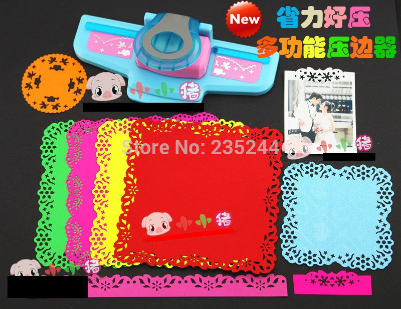 Free Shipping Of  New Design Craft Punch Set (1pc Craft Punch Lace Embossing Aid And 1pc Border Punch) For Scrapbooking Handmade