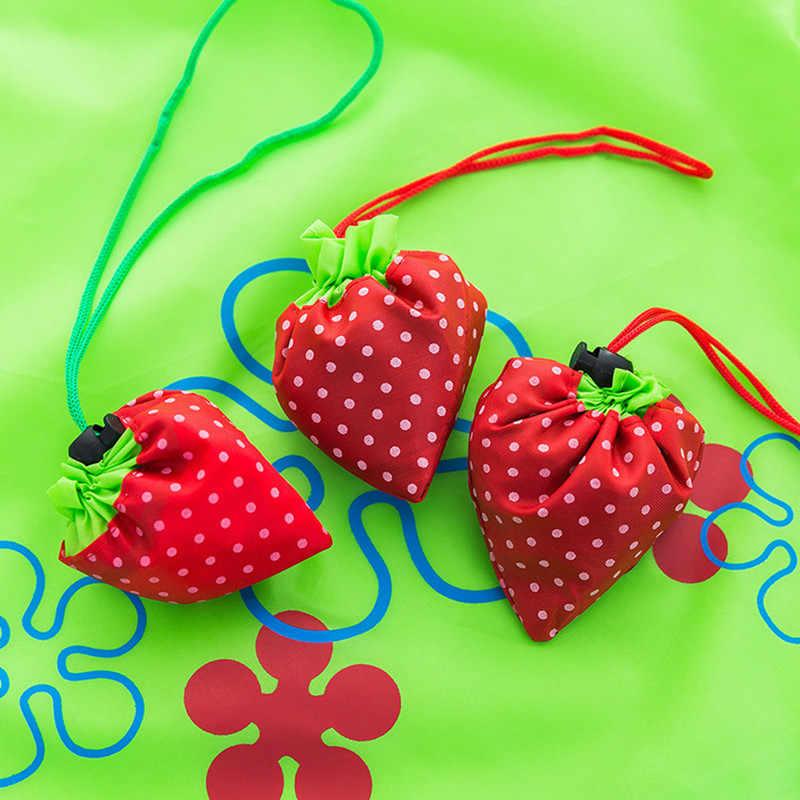 08d01be32 ... Hot Creative environmental storage bag Handbag Strawberry Foldable  Shopping Bags Reusable Folding Grocery Nylon eco tote ...