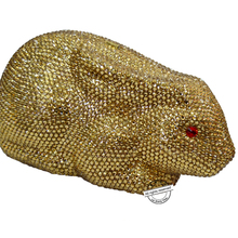 laiSC Goden Lovely rabbit evening bag designer bling bag sparkly Luxury crystal animal clutch bag lady diamond party purse SC167