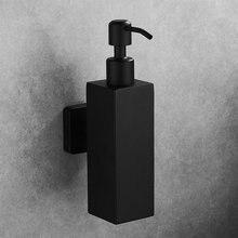 Диспенсер для жидкого мыла ручной Кухонный Контейнер для мыла 304 Нержавеющая сталь Черный Держатель для шампуня для ванной настенный флакон