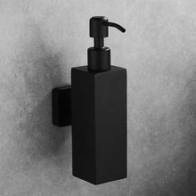 Liquid Soap Dispenser Hand Kitchen Sink Soap Container 304 Stainless Steel Black Bathroom Shampoo Holder Wall Mounted Bottle