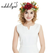 Women Flowers Wreath bridal flower Crown headband Girls Party Flower hairband korean hair accessories adjustable Floral garlands