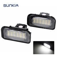 2pcs Set SUNKIA High Bright White 6000k Canbus No Error Car LED License Plate Light Lamp