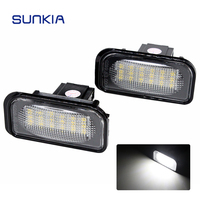 2Pcs Set SUNKIA High Bright White 6000k Canbus No Error Car LED License Plate Light Lamp