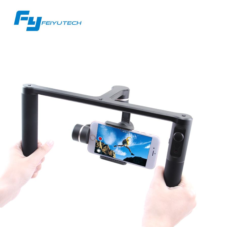 Feiyutech FY SPG PLUS 3-axis handheld gimbal dual hand professional photography stabilizer for iPhone Huawei /Gopro Hero feiyutech fy spg c 3 axis handheld smartphone gimbal stabilizer for xiaomi huawei iphone professional selfie stick pk smooth q