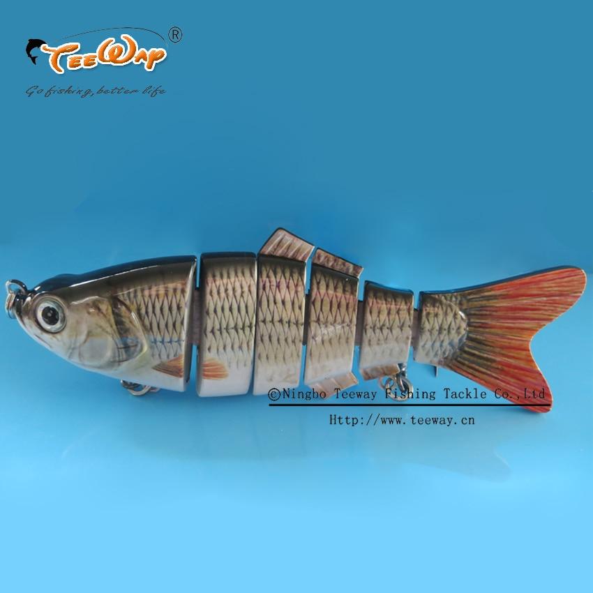Big fishing lure 6 segment swimbait crankbait hard bait for Big fishing lures