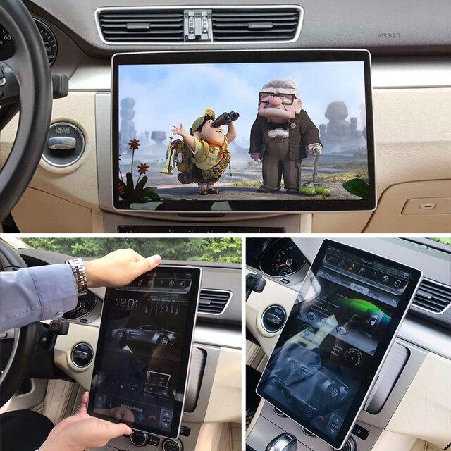 "Android 8.1 Tesla IPS Car Radio 12.8"" 360 Degree Moveable Autoradio For Honda Ford Hyundai VW Toyota Kia 2 Din GPS Navigation"