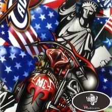 Флаг США и Статуя Свободы гидрографической Плёнки вода трансферная печать Плёнки аква с принтом Плёнки для Двигатель украшения hfy-993 50 см